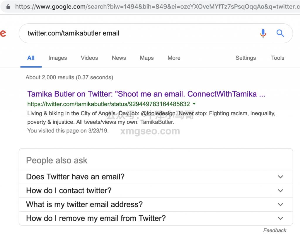 为SEO找高权重外链-谷歌搜索twitter:name show email