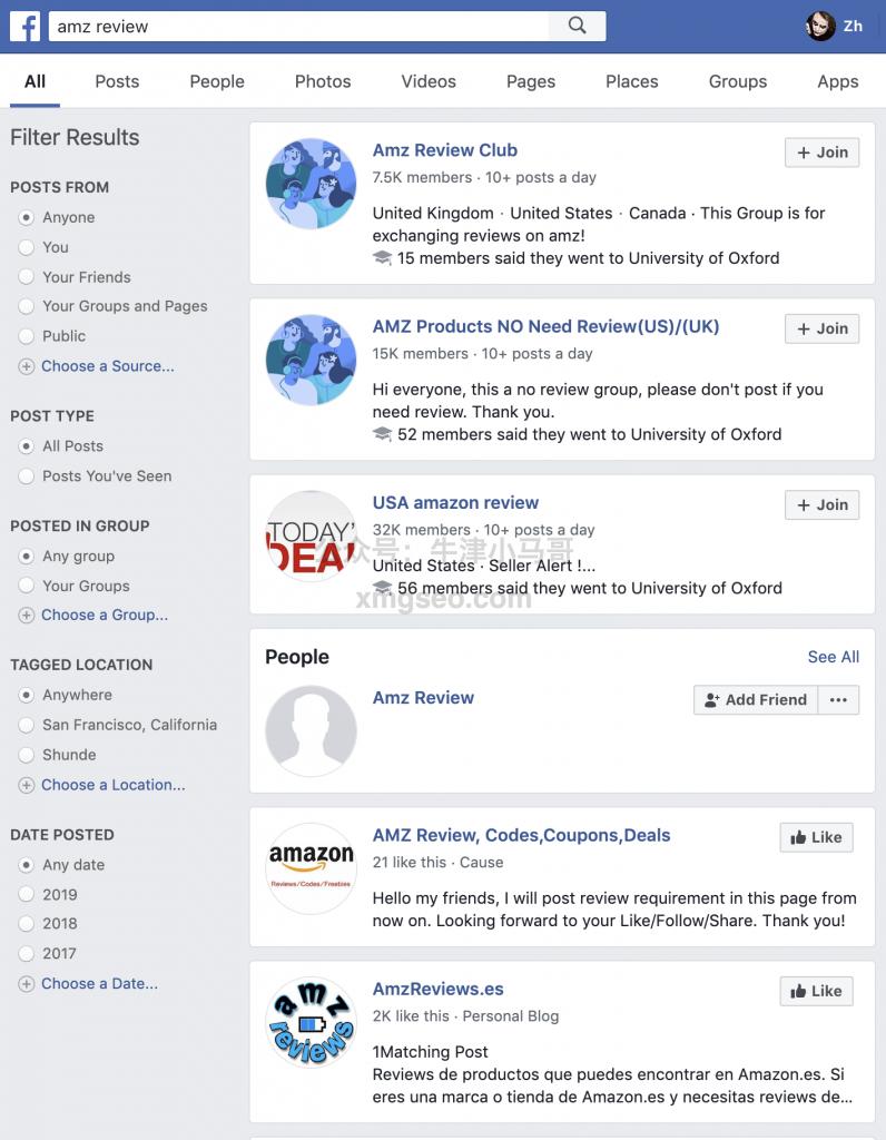 脸书搜索amz review