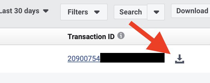 Facebook广告费申报-下载扣缴单