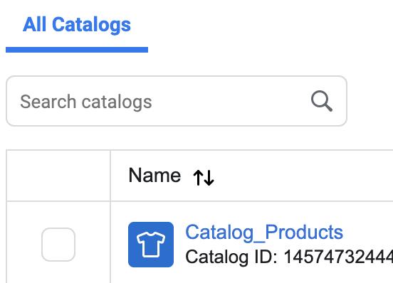 Facebook Catalog产品目录单个