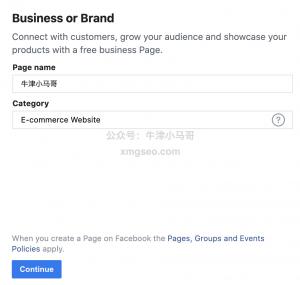 Facebook企业页面信息