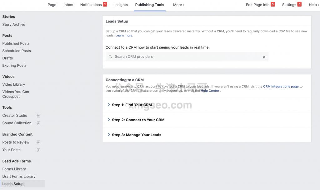Facebook链接去CRM