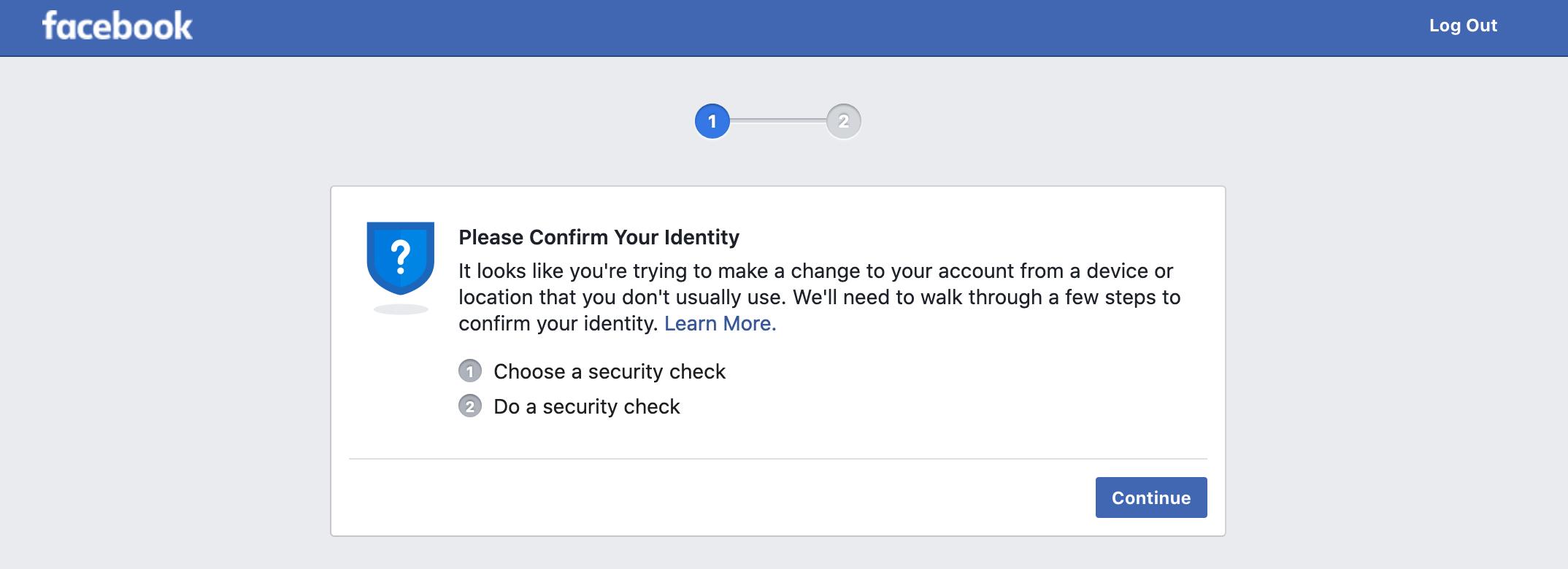 Facebook个人账号被封